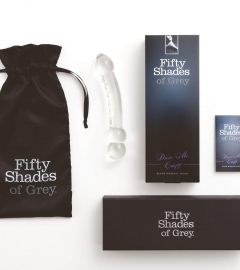 Fifty Shades of Grey Drive Me Crazy - sklenené dildo