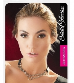Cottelli - double chain, ring necklaces (silver-black)