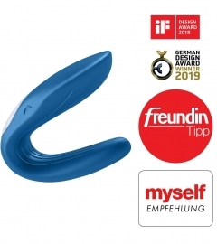 Satisfyer Partner Whale Couples - modrý