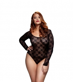 BACI - BLACK LACY BODYSUIT BACK CUTOUT QUEEN SIZE