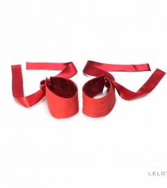 / LELO - ETHEREA SILK CUFFS RED