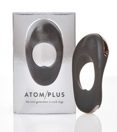 Atom Plus - Cordless, Double-Motorized Penis Ring (Black)