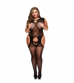 Baci - Keyhole Garter Bodystocking Queen Size