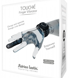 Adrien Lastic Touch - cordless finger vibrator with wrist strap (black)