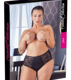 Cottelli Plus Size - Strap-Lace Women's Bottom (Black)