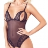 Cottelli - Lace Bead Open Body (Black)