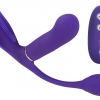 GoGasm Pussy & Ass - cordless, radio 3-arm vibrator (purple)